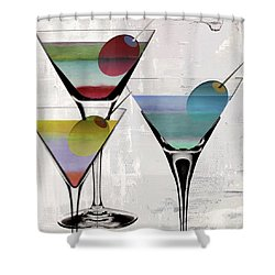 Martini Prism Shower Curtain by Mindy Sommers