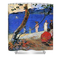 Martinique Island Shower Curtain by Paul Gauguin