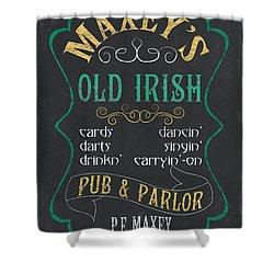 Maxey's Old Irish Pub Shower Curtain by Debbie DeWitt