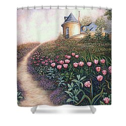 May Flowers Two Shower Curtain by Linda Mears