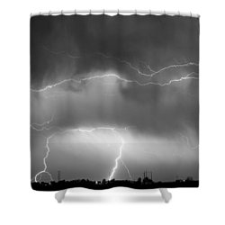 May Showers - Lightning Thunderstorm  Bw 5-10-2011 Shower Curtain by James BO  Insogna