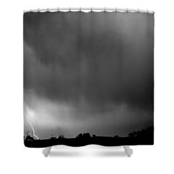May Showers 3 In Bw - Lightning Thunderstorm 5-10-2011 Boulder C Shower Curtain by James BO  Insogna
