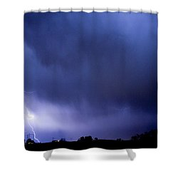 May Showers 3 In Color - Lightning Thunderstorm 5-10-2011 Boulde Shower Curtain by James BO  Insogna