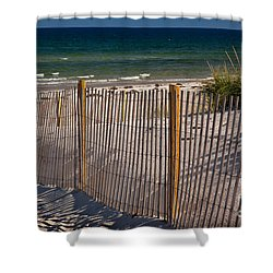 Mayflower Beach Shower Curtain by Susan Cole Kelly