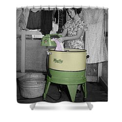 Maytag Woman Shower Curtain by Andrew Fare