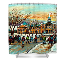 Mcgill Gates Sherbrooke Street Montreal Shower Curtain by Carole Spandau