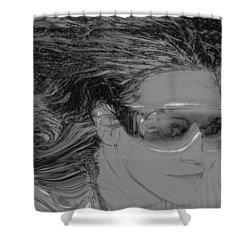 Me Shower Curtain by Linda Sannuti
