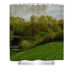 Meadow And Woodland Shower Curtain by Valentin Ruths