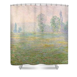Meadows In Giverny Shower Curtain by Claude Monet