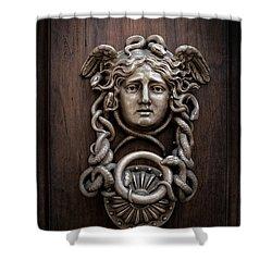 Medusa Head Door Knocker Shower Curtain by Edward Fielding