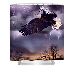 Meeting The Storm Shower Curtain by Bill Stephens