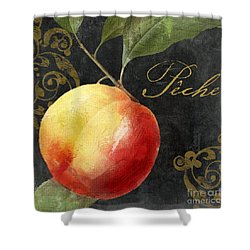 Melange Peach Peche Shower Curtain by Mindy Sommers