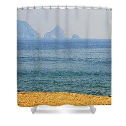 Melaque Surf Shower Curtain by Skip Hunt