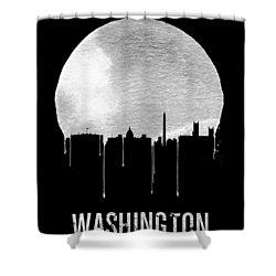 Memphis Skyline Black Shower Curtain by Naxart Studio