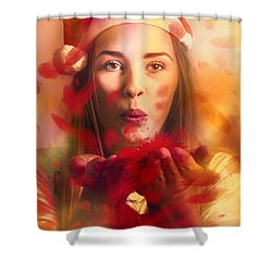 Merry Christmas Elf Shower Curtain by Jorgo Photography - Wall Art Gallery