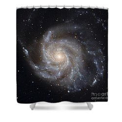 Messier 101, The Pinwheel Galaxy Shower Curtain by Stocktrek Images