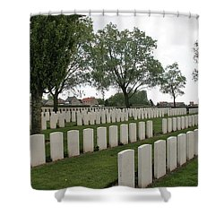 Shower Curtain featuring the photograph Messines Ridge British Cemetery by Travel Pics