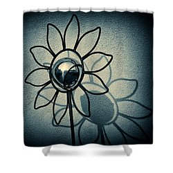 Metal Flower Shower Curtain by Dave Bowman