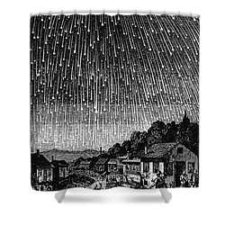 Meteor Shower, 1833 Shower Curtain by Granger
