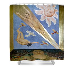 Mexican Mural Painting Shower Curtain by Granger