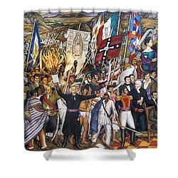 Mexico: 1810 Revolution Shower Curtain by Granger