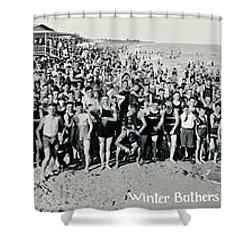 Miami Beach Sunbathers 1921 Shower Curtain by Jon Neidert