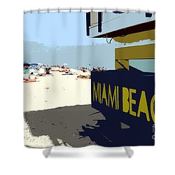 Miami Beach Work Number 1 Shower Curtain by David Lee Thompson