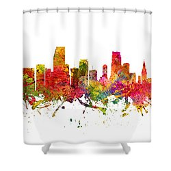 Miami Cityscape 08 Shower Curtain by Aged Pixel
