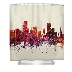 Miami Cityscape 09 Shower Curtain by Aged Pixel