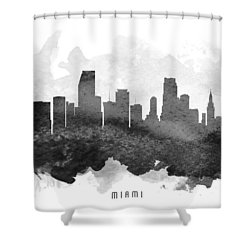 Miami Cityscape 11 Shower Curtain by Aged Pixel