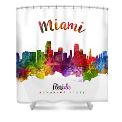 Miami Florida 23 Shower Curtain by Aged Pixel