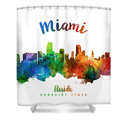 Miami Florida 25 Shower Curtain by Aged Pixel