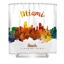 Miami Florida 26 Shower Curtain by Aged Pixel