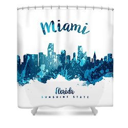 Miami Florida 27 Shower Curtain by Aged Pixel