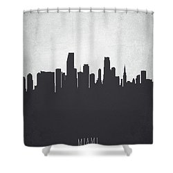 Miami Florida Cityscape 19 Shower Curtain by Aged Pixel