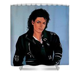 Michael Jackson Bad Shower Curtain by Paul Meijering