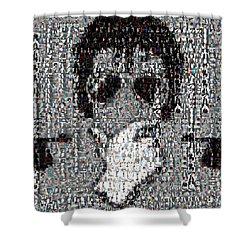 Michael Jackson Glove Montage Shower Curtain by Paul Van Scott