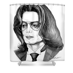 Michael Jackson Shower Curtain by Murphy Elliott