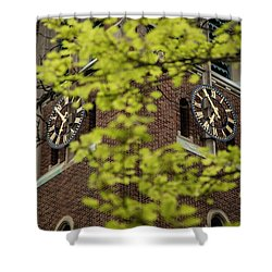 Michigan State Beaumont Tower In Spring  Shower Curtain by John McGraw
