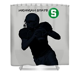 Michigan State Football Shower Curtain by David Dehner