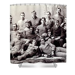 Michigan Wolverine Football Heritage 1890 Shower Curtain by Daniel Hagerman