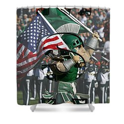 Michiganstate Sparty Shower Curtain by John McGraw