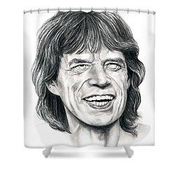 Mick Jagger Shower Curtain by Murphy Elliott