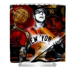 Mickey Mantle Collection Shower Curtain by Marvin Blaine