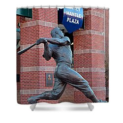 Mickey Mantle Shower Curtain by Frozen in Time Fine Art Photography