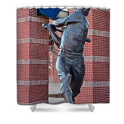 Mickey Mantle Plaza Shower Curtain by Frozen in Time Fine Art Photography