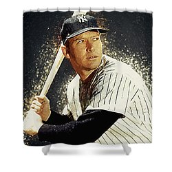 Mickey Mantle Shower Curtain by Taylan Soyturk