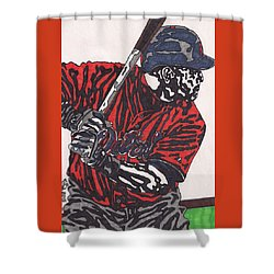 Miguel Caberera 1 Shower Curtain by Jeremiah Colley