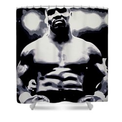 Mike Tyson Shower Curtain by Luis Ludzska