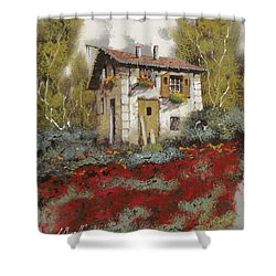 Mille Papaveri Shower Curtain by Guido Borelli